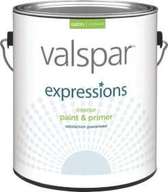 Valspar 17041 Expressions Latex Paint Satin White Gallon