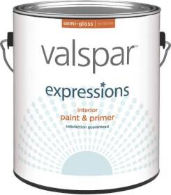 Valspar 17061 Expressions Latex Paint Semi-Gloss White 1 Gal