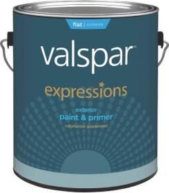 Valspar 17101 Expressions Exterior Latex Paint Flat White 1 Gal