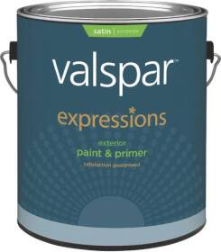 Valspar 17141 Expressions Exterior Latex Paint Satin White 1 Gal