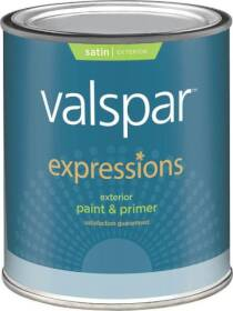 Valspar 17144 Expressions Exterior Latex Paint Satin Clear 1 Qt