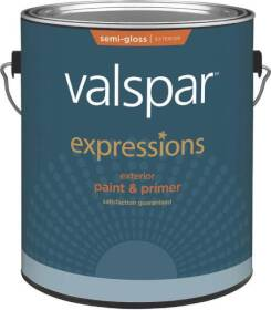 Valspar 17161 Expressions Exterior Latex Paint Semi-Gloss White 1 Gal