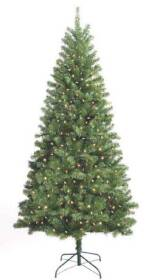 Santa's Forest Inc 10770 7 ft Douglas Fir Pre-Lit Tree with Clear Bulbs
