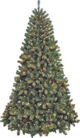 Santa's Forest Inc 61760 6 ft Sheared Noble Fir Pre-Lit Tree with Clear Bulbs