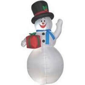 Santa's Forest Inc 90703 6 ft Inflatable Waving Snowman Decoration