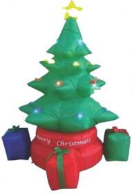 Santa's Forest Inc 90927 6 ft Inflatable Rotating Christmas Tree Decoration