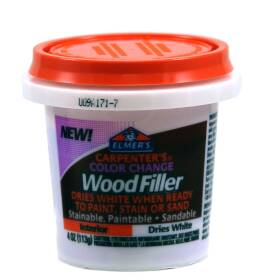 Elmer's Products E915 Carpenter's Color Change Wood Filler Dries White 4 Oz