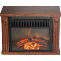 World Marketing 3981859 Fireplace Electric Mini Hearth Wood Gr