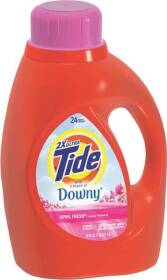 Procter & Gamble 87453 Tide Plus A Touch Of Downy Liquid Laundry Detergent In April Fresh Scent 46 Oz
