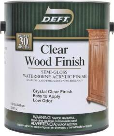Deft 108-01 Clear Wood Finish Semi-Gloss Waterborne Acrylic Finish Gallon