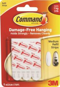 3M 17021 Command Medium Refill Strips For Medium Command Hooks