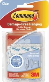 3M 17200CLR Command Clear Assorted Refill Strips For Command Clear Hooks