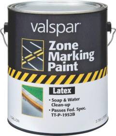 Valspar 136 Yellow Zone Marking Latex Paint Flat Finish 1 Gal