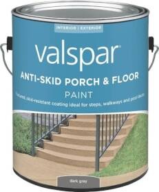 Valspar 024.0082031.007 Anti-Skid Enamel Porch And Floor Paint Dark Gray 1 Gal