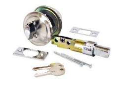 United States Hardware D-113B American Hardware Mobile Home Single Cylinder Entrance Deadbolt Stainless Steel