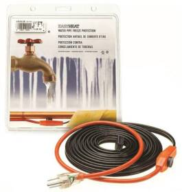 Easy Heat AHB-180 80 ft Pipe Heating Cable With Thermostat