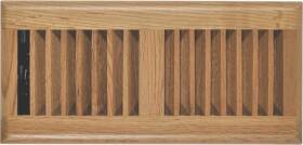 Imperial RG2195 Louvered Design Floor Register Light Oak Finish 4 In X12 In