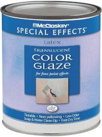 McCloskey 6297 McCloskey Special Effects Translucent Color Glaze For Faux Paint Effects 1 Quart