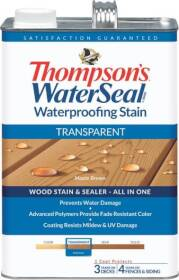 Thompsons 6530950 Stain Waterproof Transparent Maple Brown 1 Gal