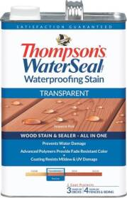 Thompsons 6530976 Stain Waterproof Transparent Sequoia Red 1 Gal