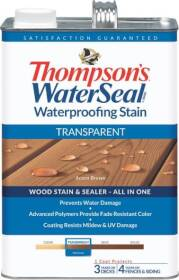 Thompsons 6530992 Stain Waterproof Transparent Wl Cedar 1 Gal