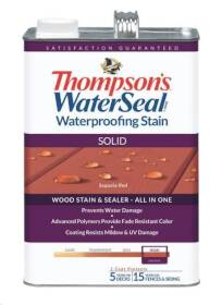 Thompsons TH.043831-16 Thompson's WaterSeal Waterproofing Solid Stain In Sequoia Red 1 Gal