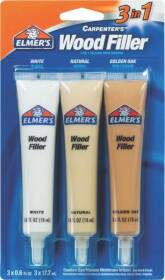 Elmer's Products E803Q 3-N-1 Mixable Woodfiller Tubes