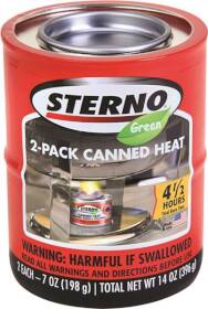 Sterno 2356277 Canned Heat 7 Oz 2 Pack
