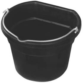 Farm Innovators FB-15R Heated Flat Back Rubber Bucket 18 Qt
