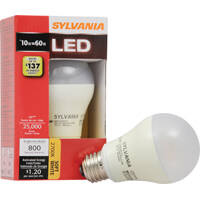 Sylvania Lighting 79153 Bulb Led Value A19 10w 2700k