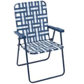 Rio Brands BY055-0154-OG Steel Framed Web Lawn Chair
