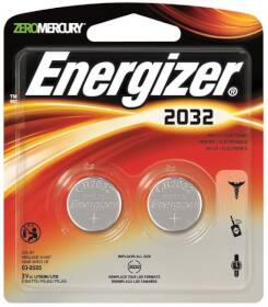 Energizer Battery 2032BP-2 2032 Coin Cell Battery, 3v