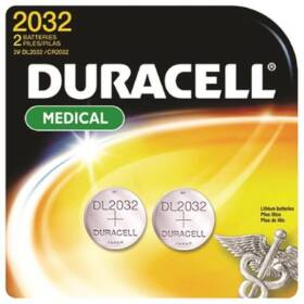 Duracell DL2032B2PK Coin Cell Battery 3 Volt Lithium Maganese Dioxide