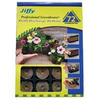 Jiffy Products J3R72 72ct Peat Pellet Refill