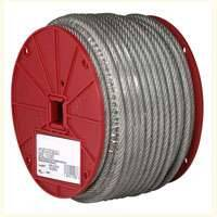 Campbell Chain 700-0627 3/16 in Uncoated Cable 250 ft