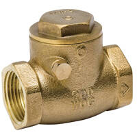 B & K Industries 101-003NL Check Valve Brass 1/2ips