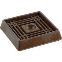 Shepherd Hardware 9076 2 in Sq Brown Rbr Caster Cup