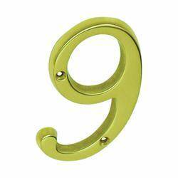 Schlage Builders Hardware SC2-3096-605 #9 4 in #9 Tradition House Number