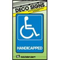 Hy-ko Products D-17 5x7 Handicap Plastic Deco Sign