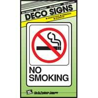 Hy-ko Products D-20 5x7 No Smoking Plastic Deco Sign