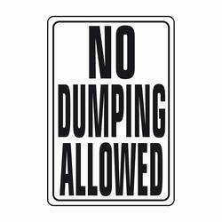 Hy-ko Products HW-4 No Dumping Allowed Hwy Sign