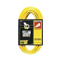 Coleman Cable 2887 14/3x50 ft Yel Jkt Extension Cord