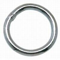 Campbell Chain 6815443 1-1/2 in Nickel Welded Ring