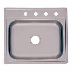 FrankeUSA FSS604NB Stainless Steel Single Bowl Sink 25x22x6