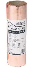 Amerimax 850678 Copper Flashing 8 in W X 20 ft L, 3 oz Copper