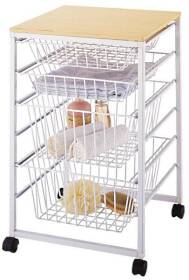 Homebasix SS-16183-WH Drawer Basket, 4 Tier, White