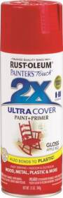 Rust-Oleum 249124 Painter's Touch Spray Paint And Primer Apple Red