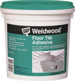 Dap 00136 Weldwood Interior Floor Tile Adhesive Clear Quart