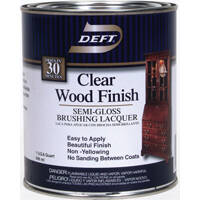 Deft 011-04 Qt Clear Semi-Gloss Wood Finish