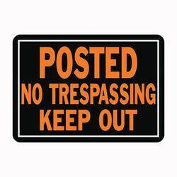 Hy-ko Products 813 No Trespassing/Keep Out Sign